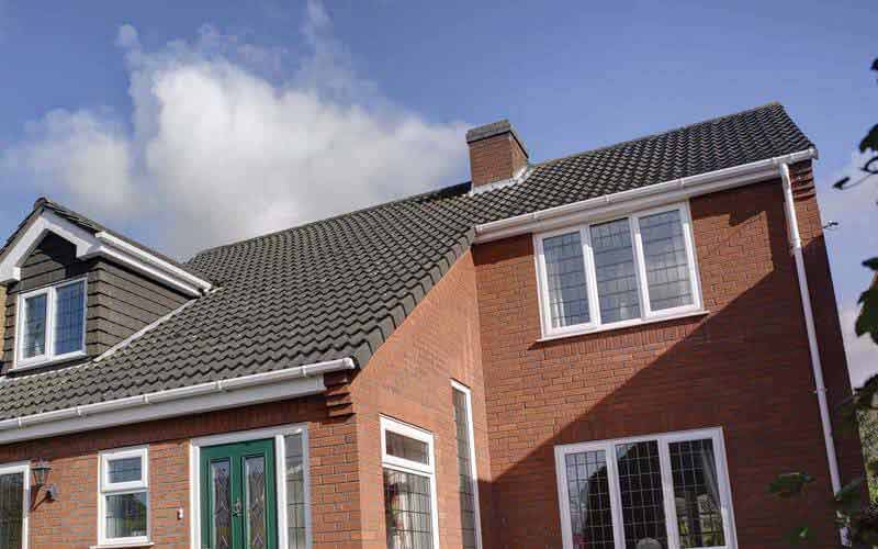 Home exterior with replacement uPVC guttering, fascias and soffits