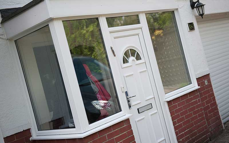 uPVC Front Door White