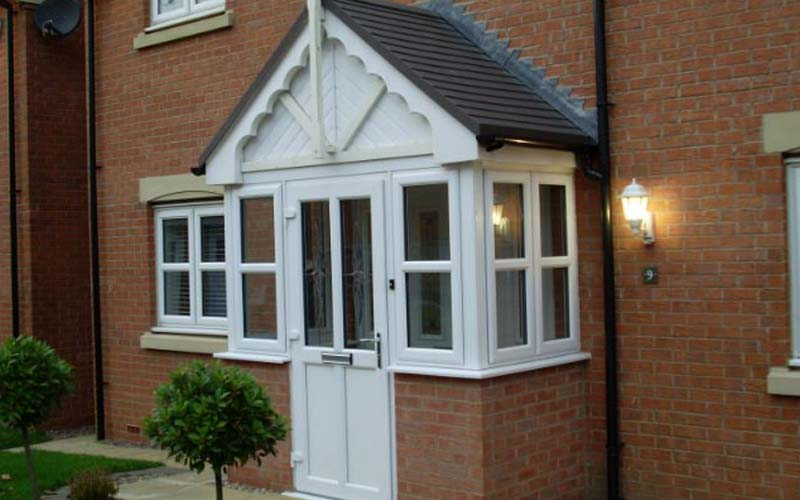 uPVC porch in white