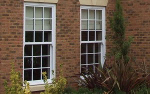 Vertical sliding sash windows