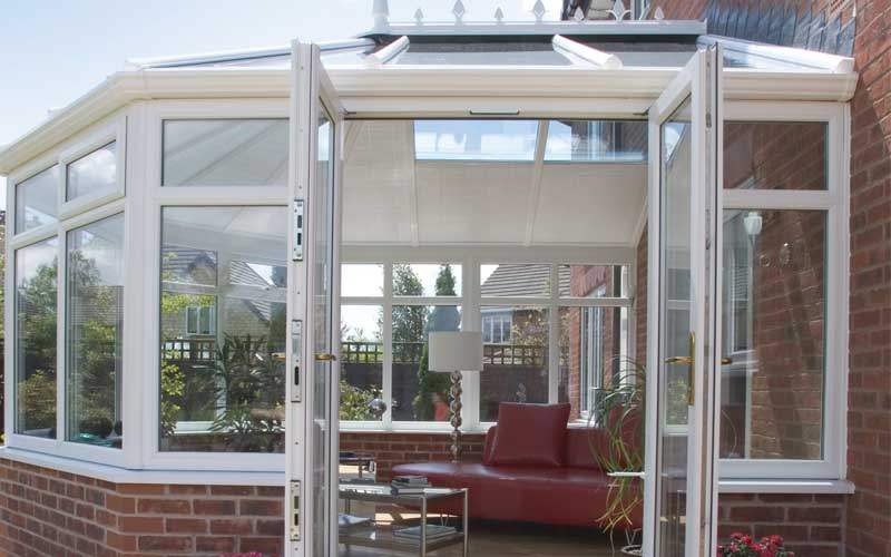 Victorian conservatory with double doors