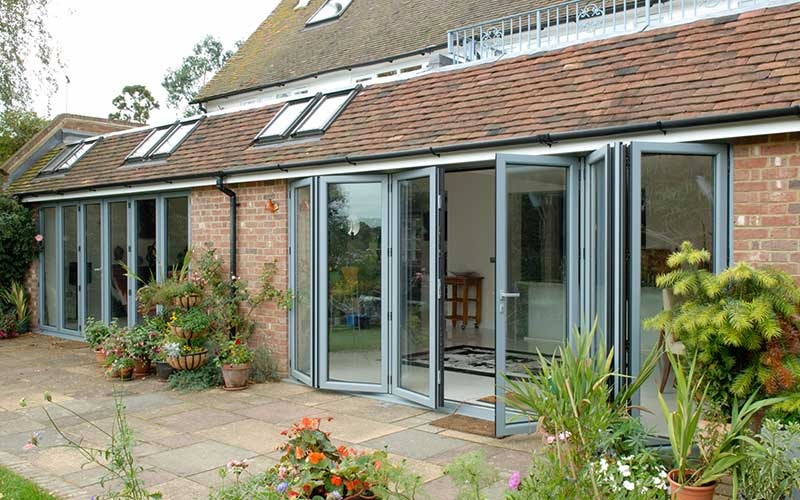 Double glazed bifold-doors
