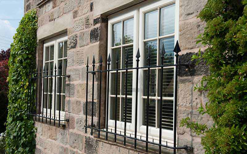White double glazed casement windows with glazing bars