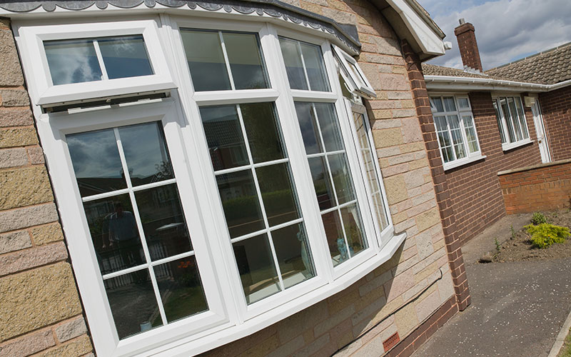 Upvc bow windows with double glazing