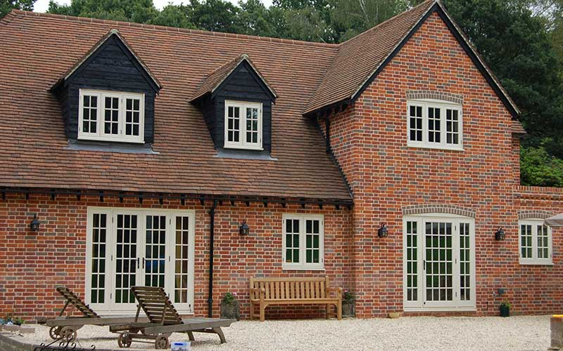 A house with timber windows installed