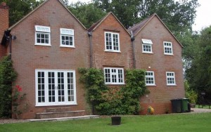 Timber windows with astragal bar detailing