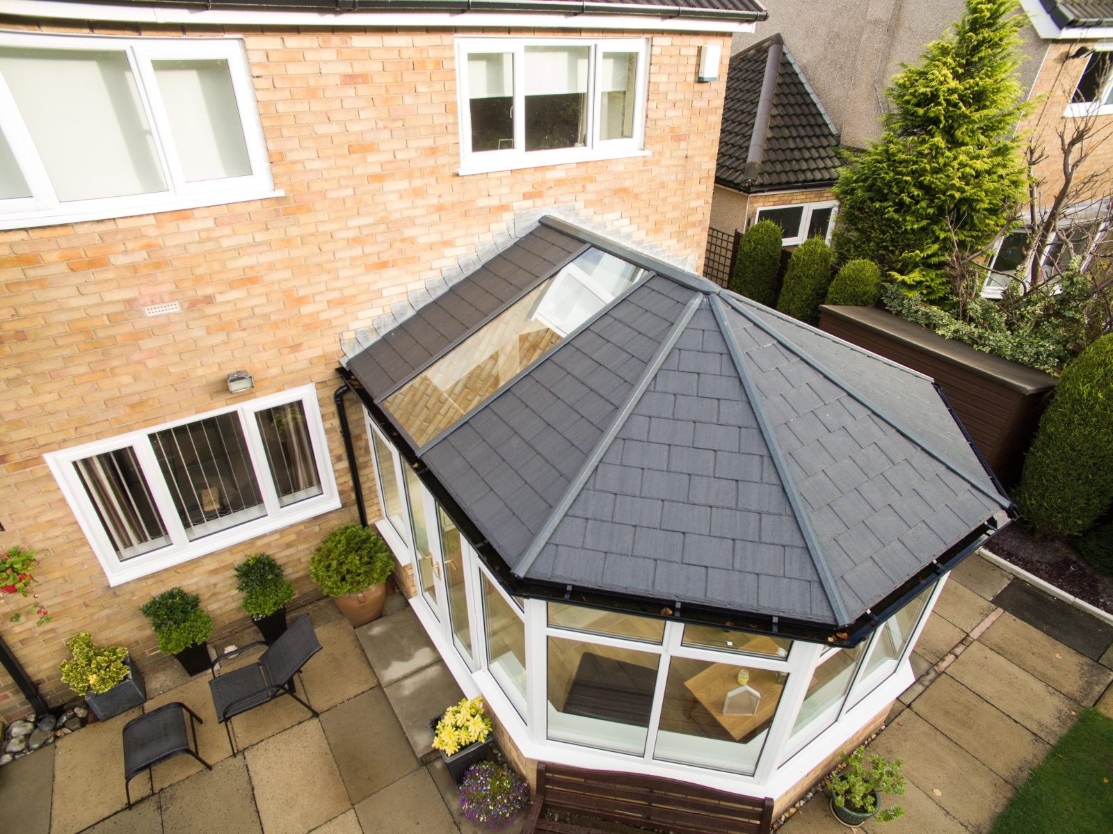 is a glass conservatory roof really the best albion windows. Black Bedroom Furniture Sets. Home Design Ideas
