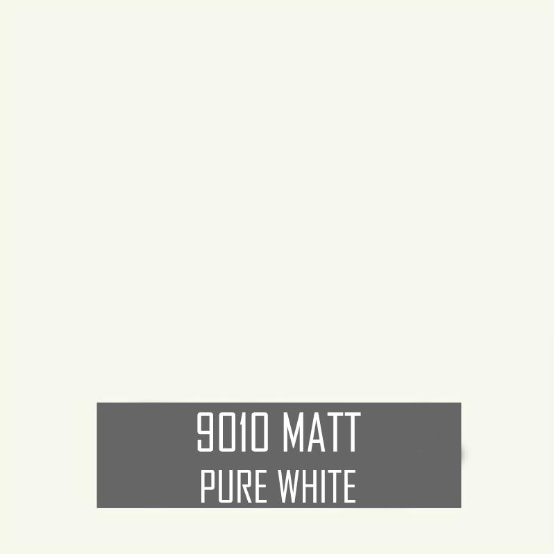 Matt pure white